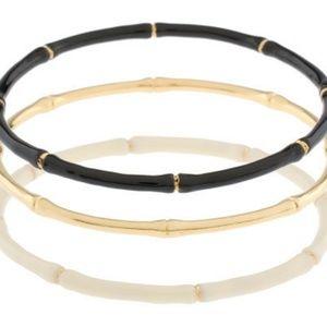 New Joan Rivers Set Bamboo Enameled Bracelets